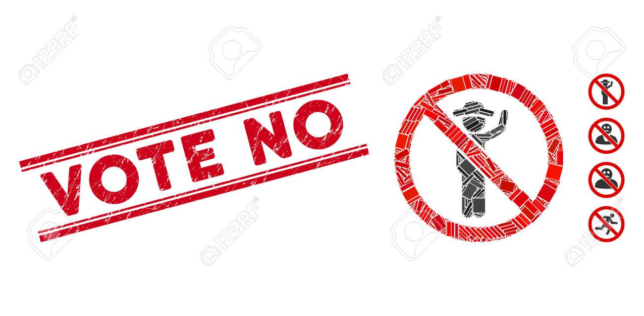 Vote No Campaign Protest Signs Political Stock Vector (Royalty Free)  1181742625