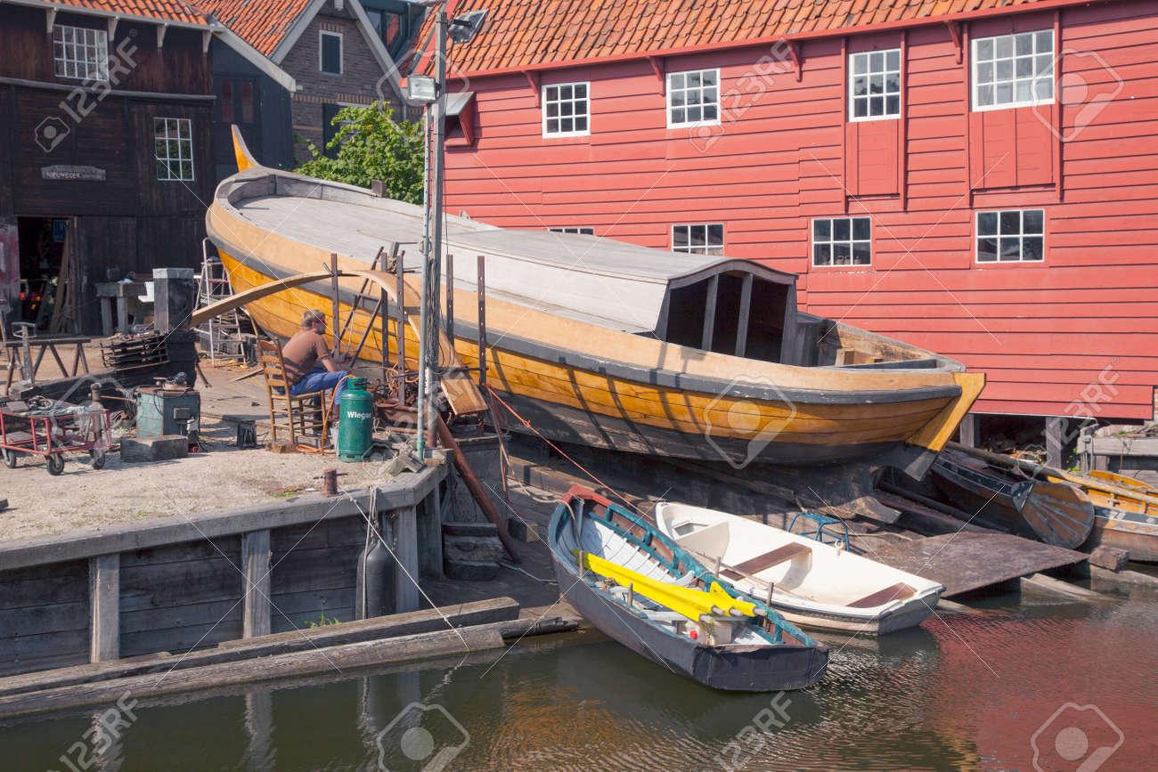 old shipyard in the dutch village of Spakenburg in The Netherlands