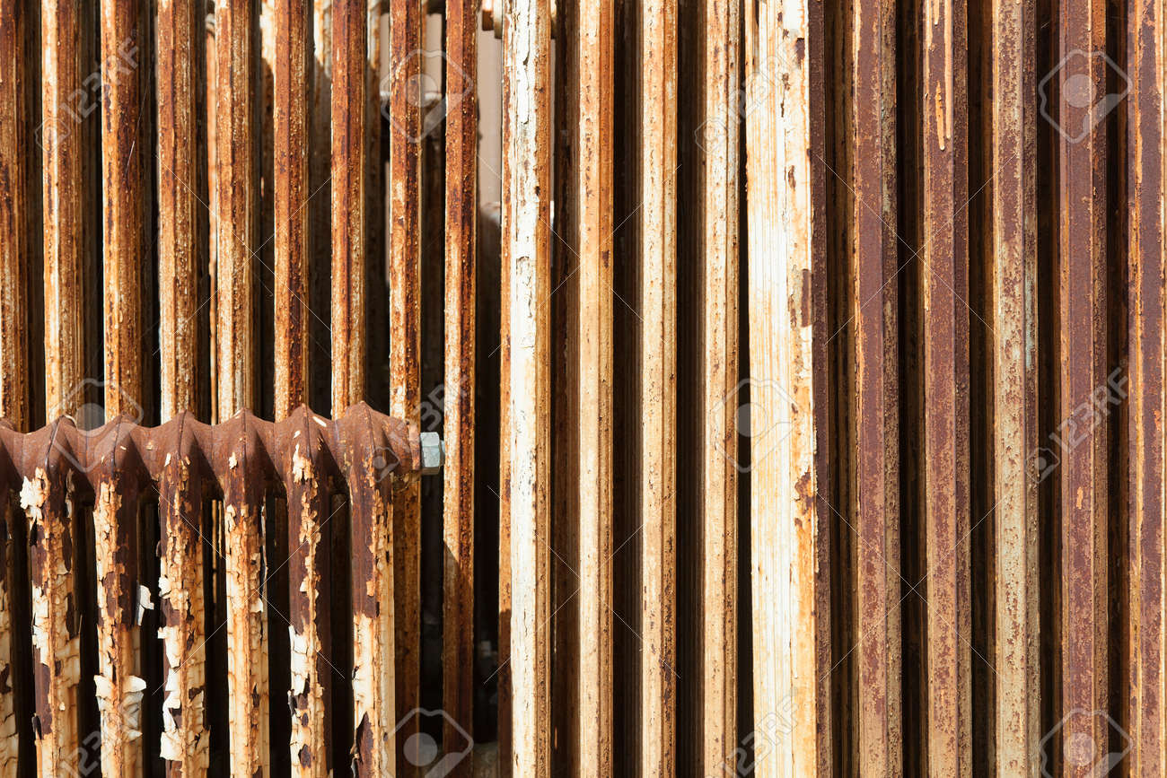 Old Central Heating Radiator With Cracked White Paint And Rust Stock Photo Picture And Royalty Free Image Image 40486241