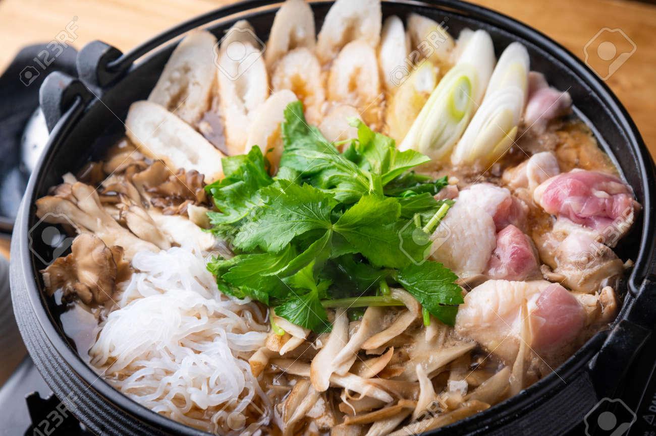 Kiritanpo Nabe japanese Akita style rice cake in chicken hot pot - 156838139