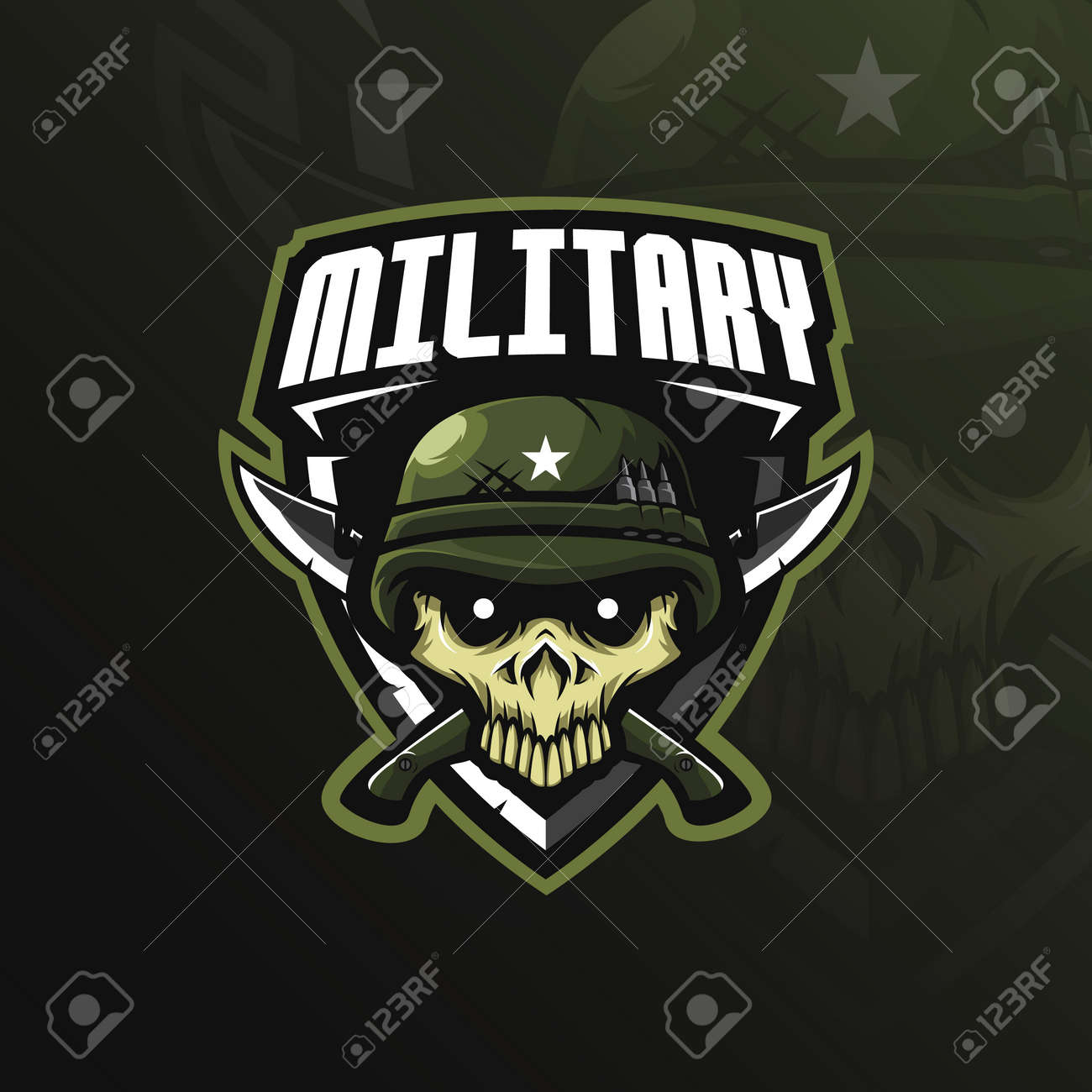 skull military mascot logo design vector with modern illustration royalty free cliparts vectors and stock illustration image 117795132 skull military mascot logo design vector with modern illustration