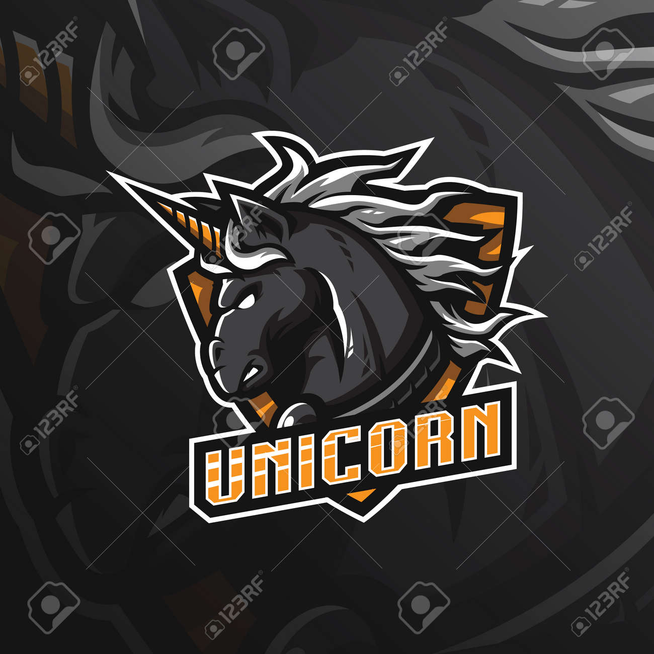 Unicorn Horse Vector Mascot Logo Design With Modern Illustration Royalty Free Cliparts Vectors And Stock Illustration Image 118377387