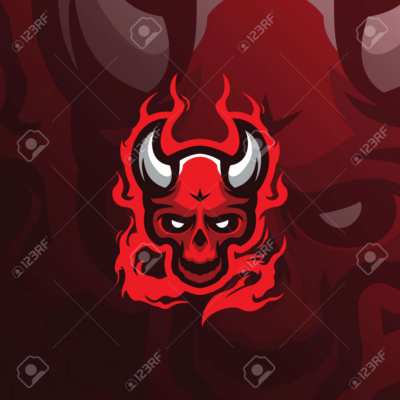 skull devil mascot logo design vector with modern illustration royalty free cliparts vectors and stock illustration image 119812674 skull devil mascot logo design vector with modern illustration