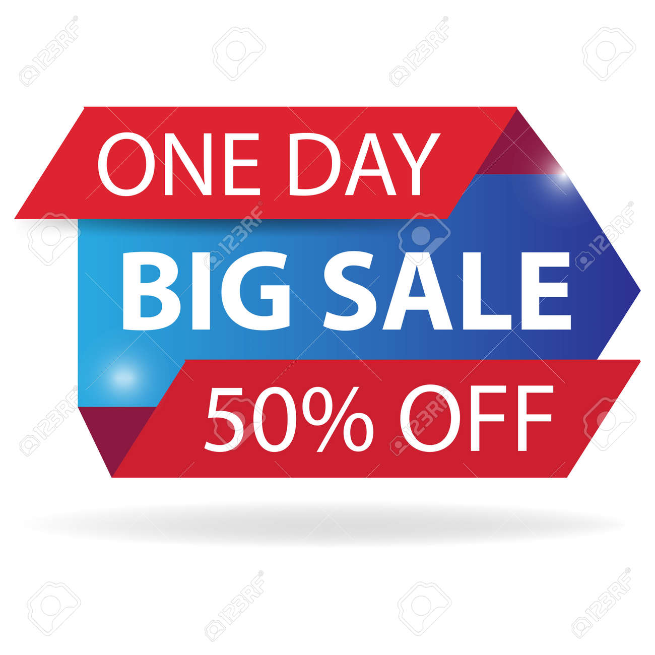 Mega sale banner design template with speed gradient shape isolated on white background. Can be used posters, postcards, headlines, website. - 136244835