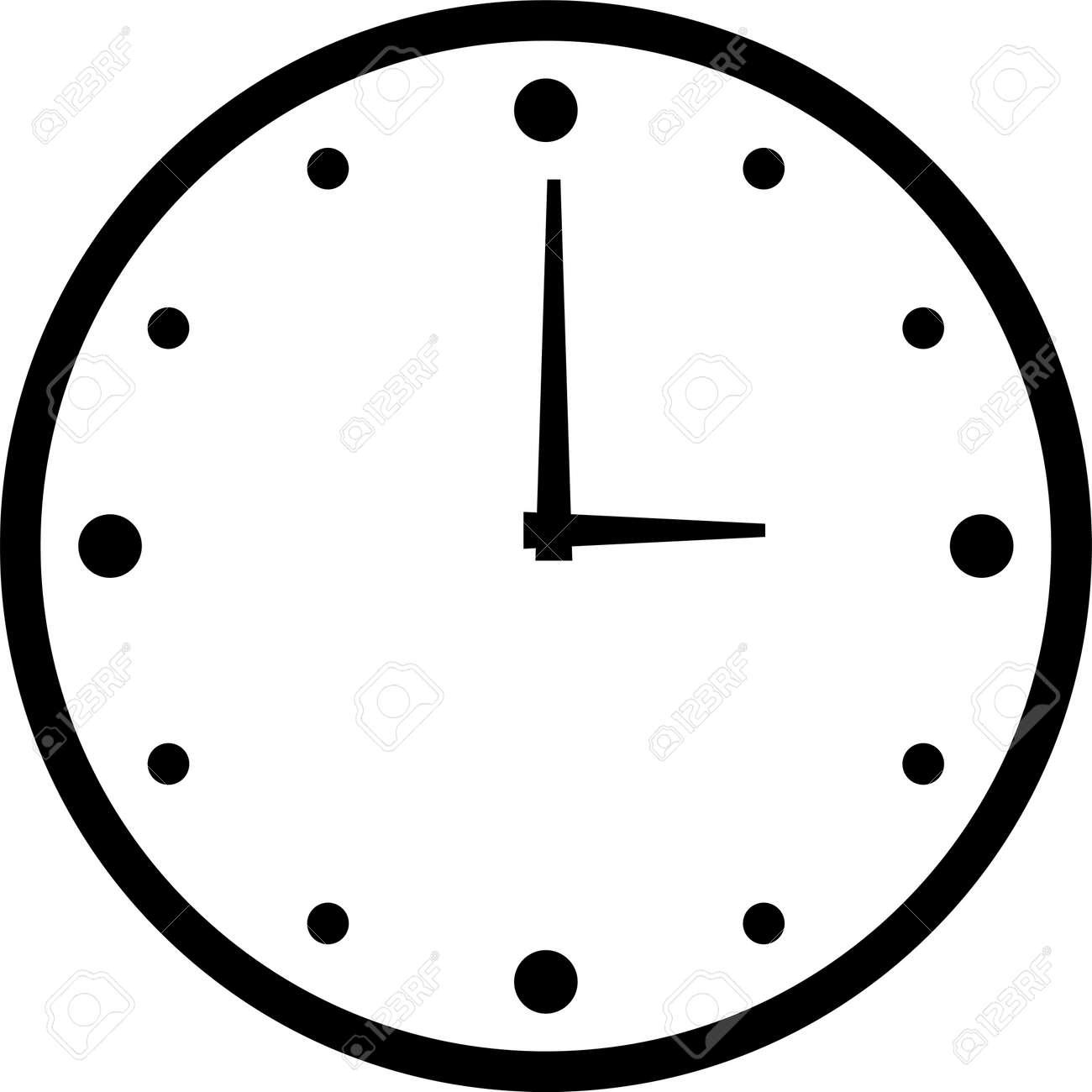 Clock Time Icon Vector Illustration - Vector - 154814360