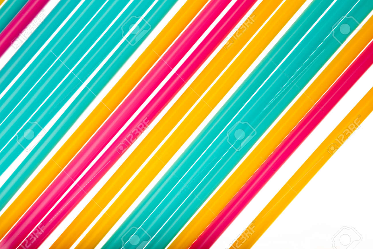 Colorful Of Straw Art Background Abstract Wallpaper Pastel Colored Straws Rainbow