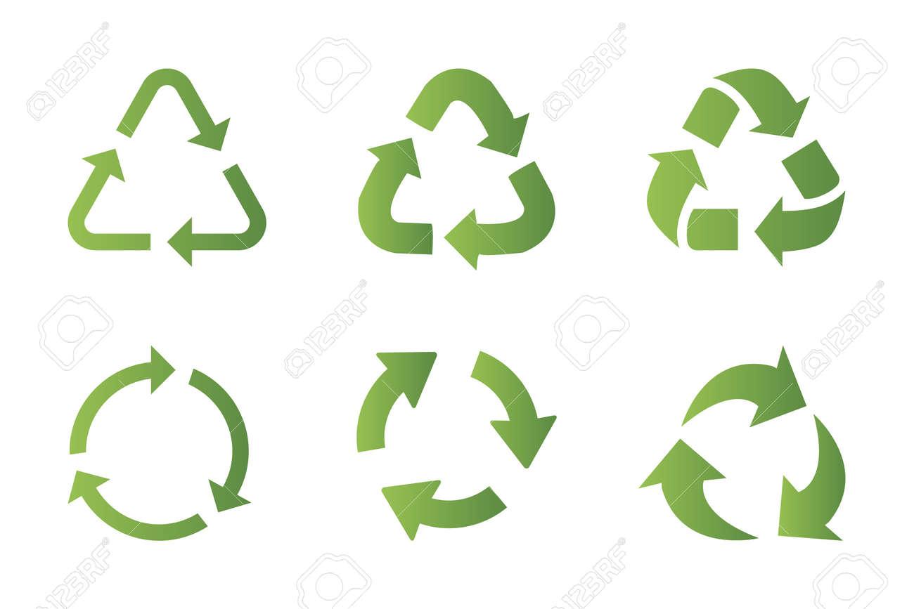 Recycling symbol icon set - 102612206