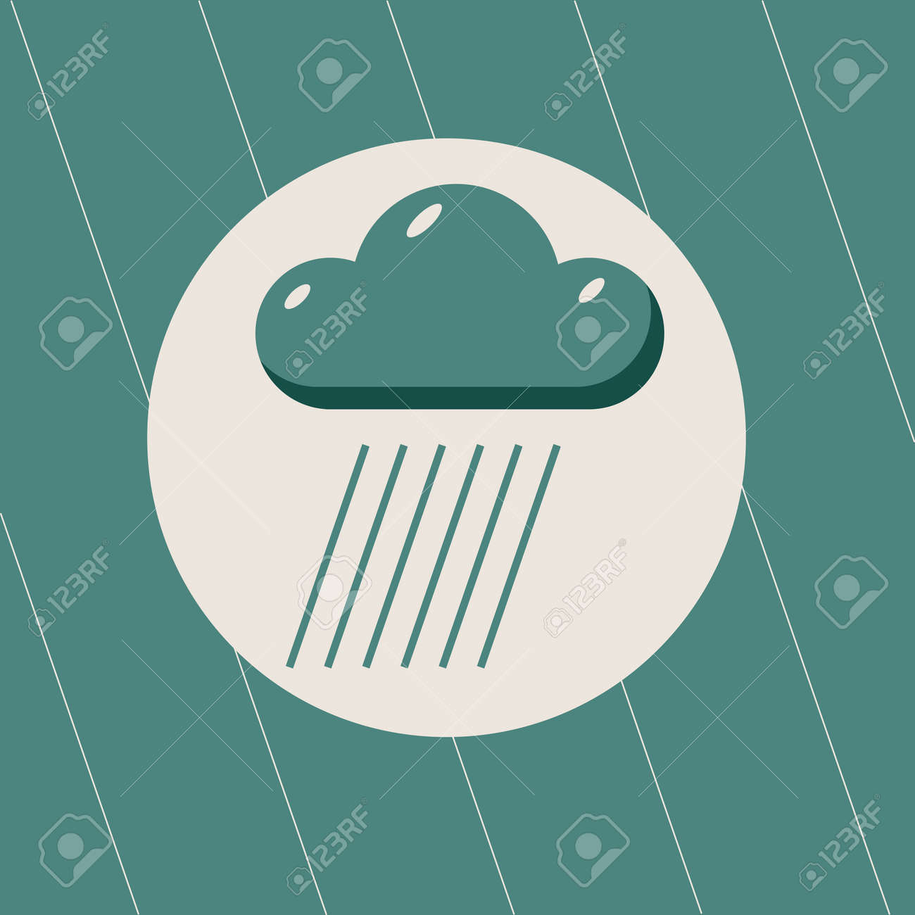 raining weather symbol of heavy rain royalty free cliparts