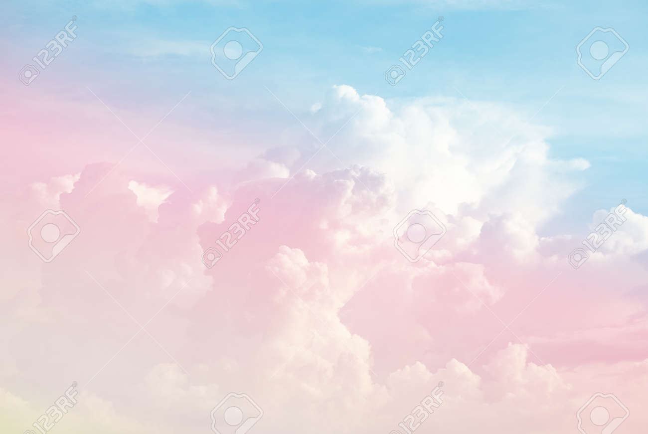 Colorful Soft Cloud And Sky With Pastel Gradient Color For Background Stock Photo Picture And Royalty Free Image Image 107993139