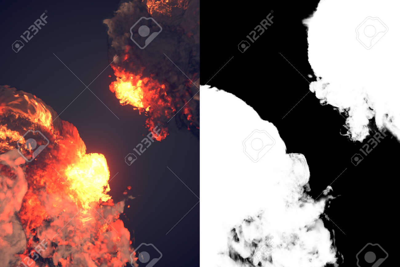 爆発音と黒い煙暗いプラス アル...