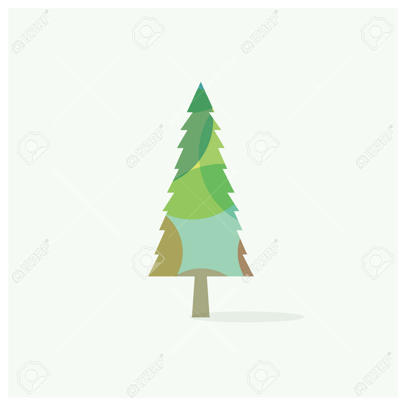 Colorful Christmas Tree Vector.Christmas Tree Vector Icon Beautiful And Colorful Tree Logo