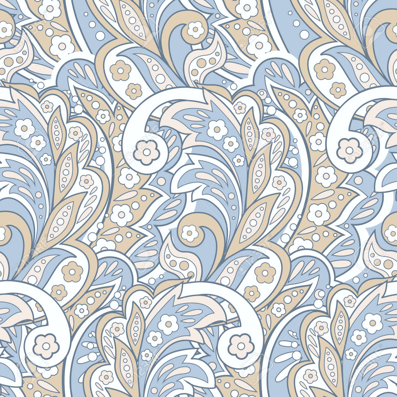 Floral Ethnic Seamless Pattern. Arabic Ornament. Ornamental Motifs ... for Indian Fabric Designs Patterns  186ref