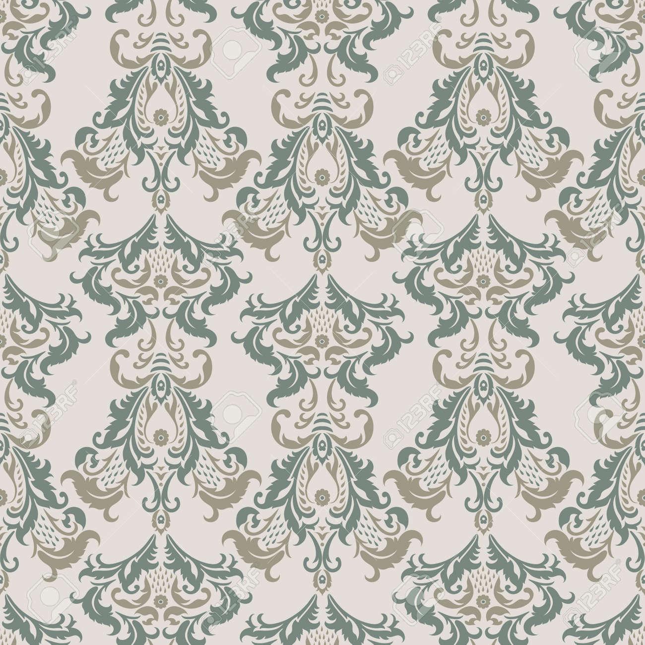 Vector Baroque Floral Pattern Classic Floral Ornament Vintage