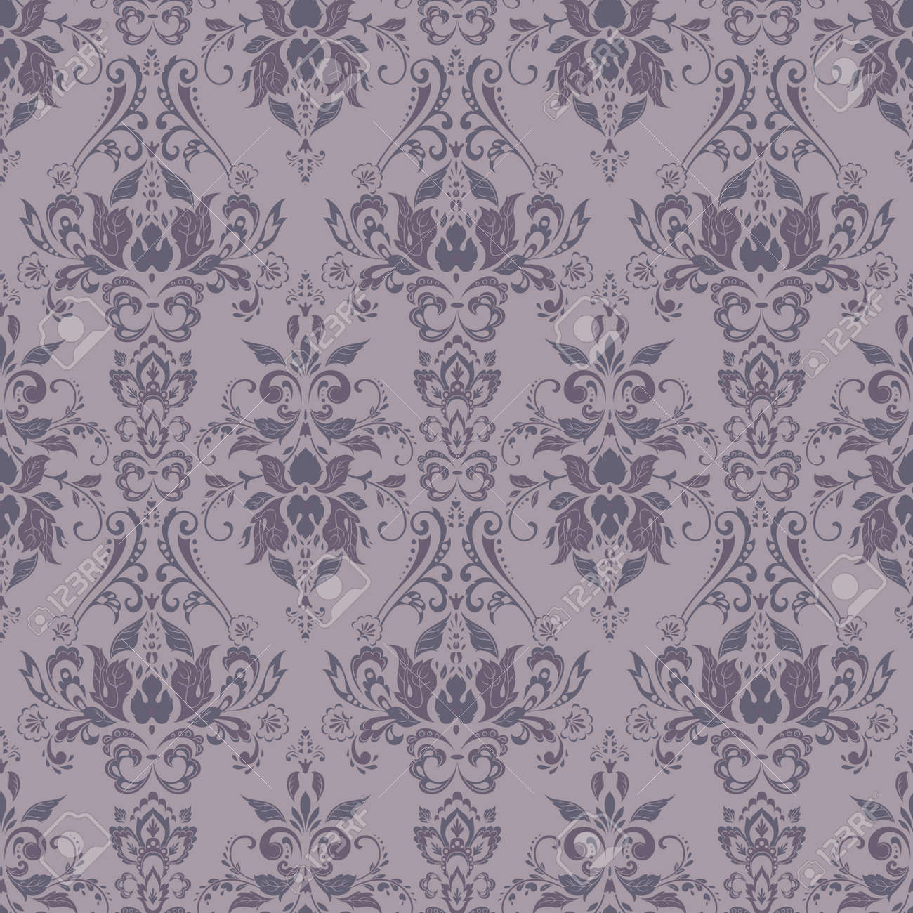 Vector Baroque floral pattern. classic floral ornament. vintage texture for wallpapers, textile, fabric - 125792727