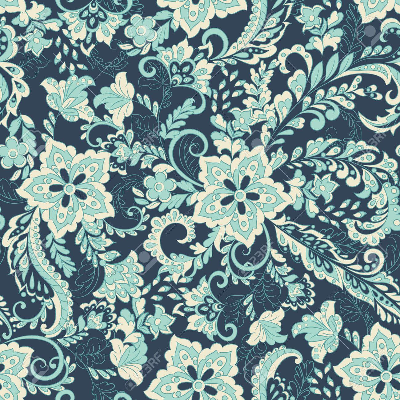 vintage floral seamless patten - 141129280
