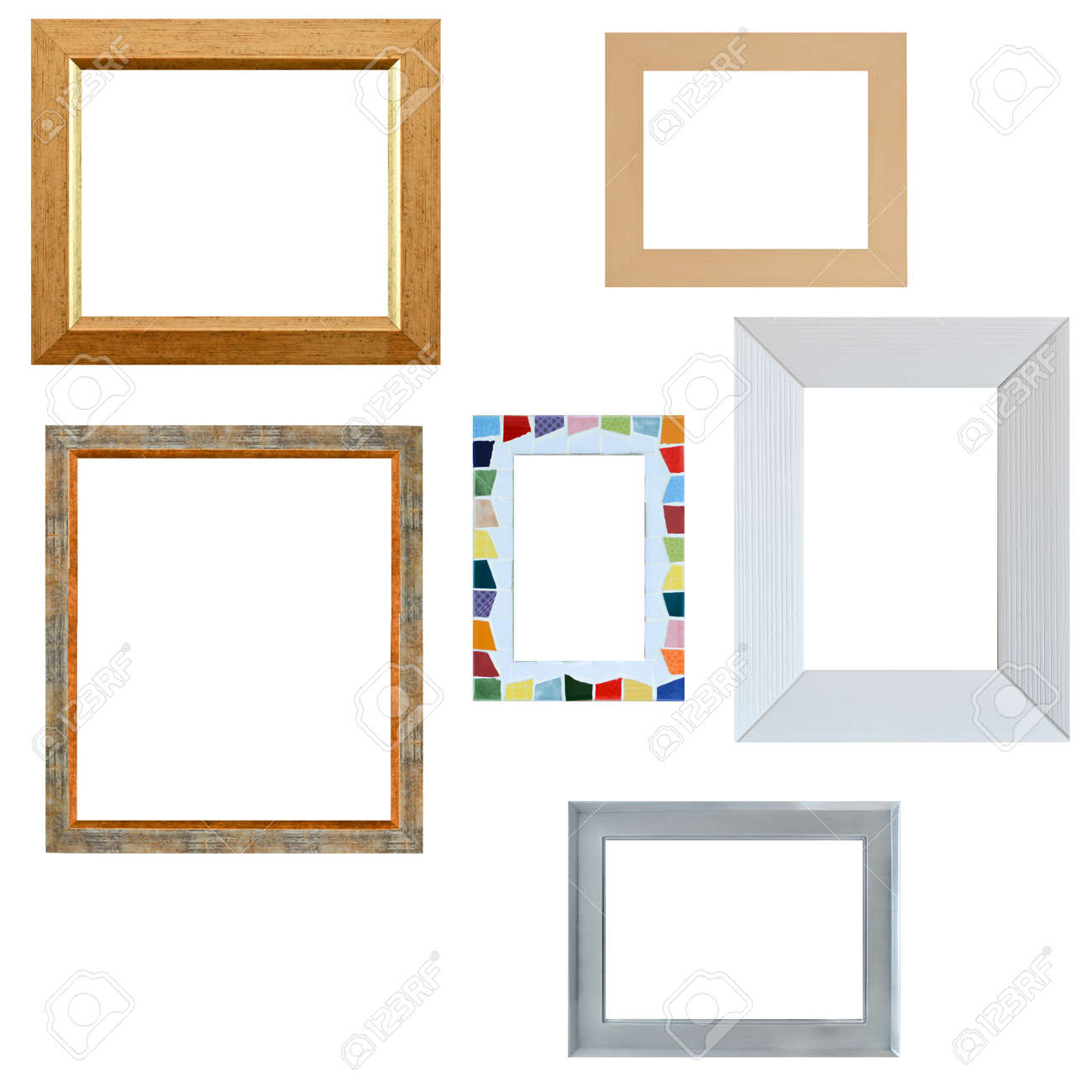 af477f8b645 Multiple empty frames isolated on white background Stock Photo - 70201248
