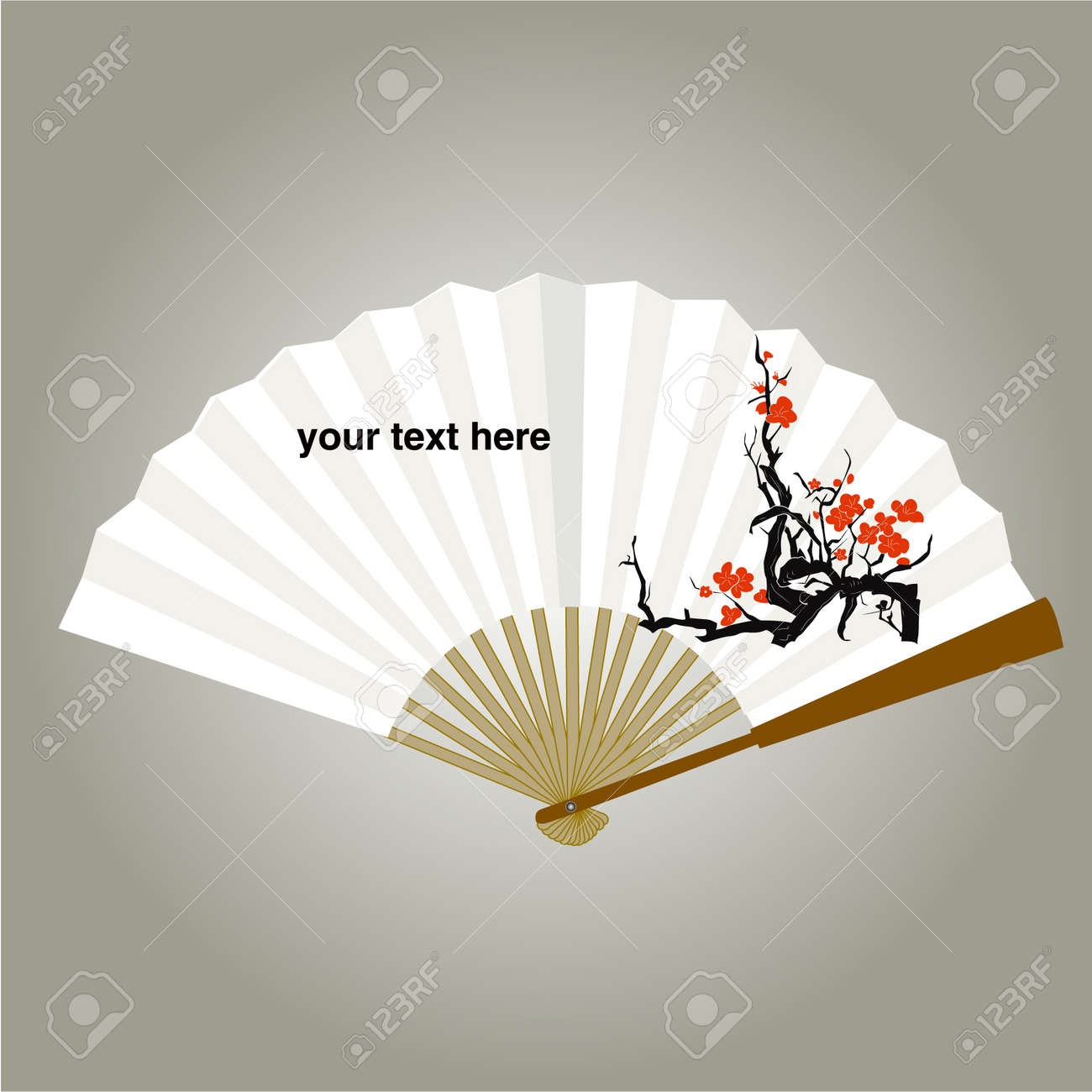 chinese fan painping vector Backgrounds Stock Vector - 11271907