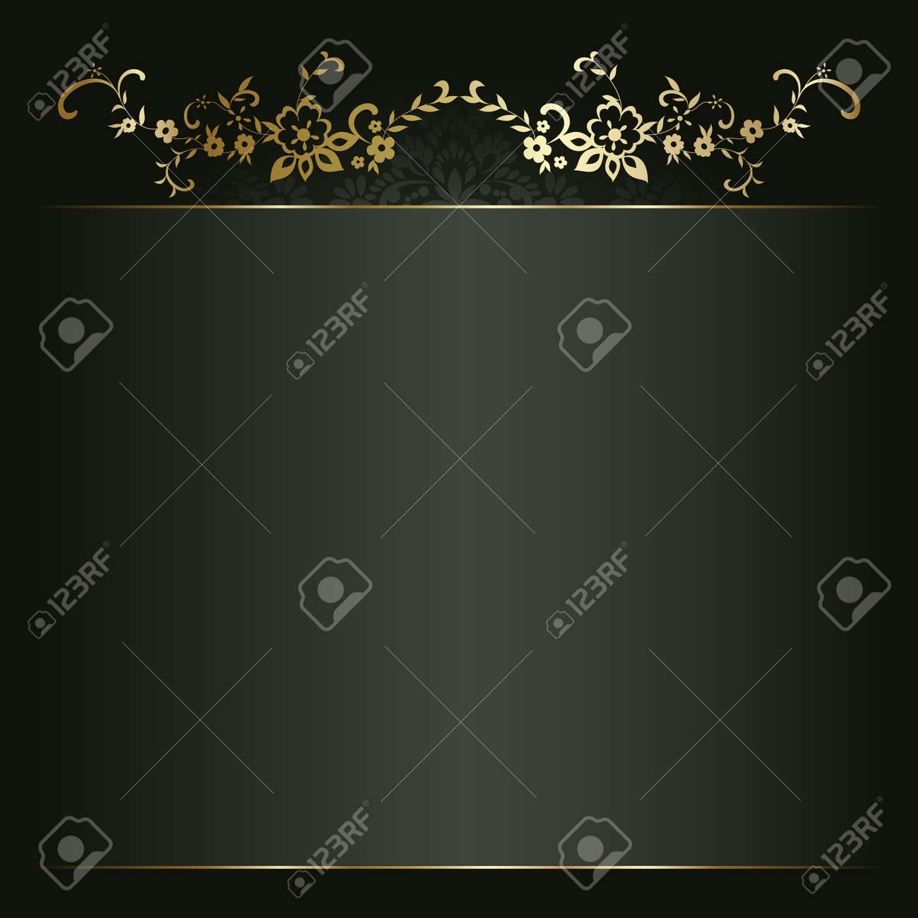 Artistic flower golden background for your text Stock Vector - 11760514