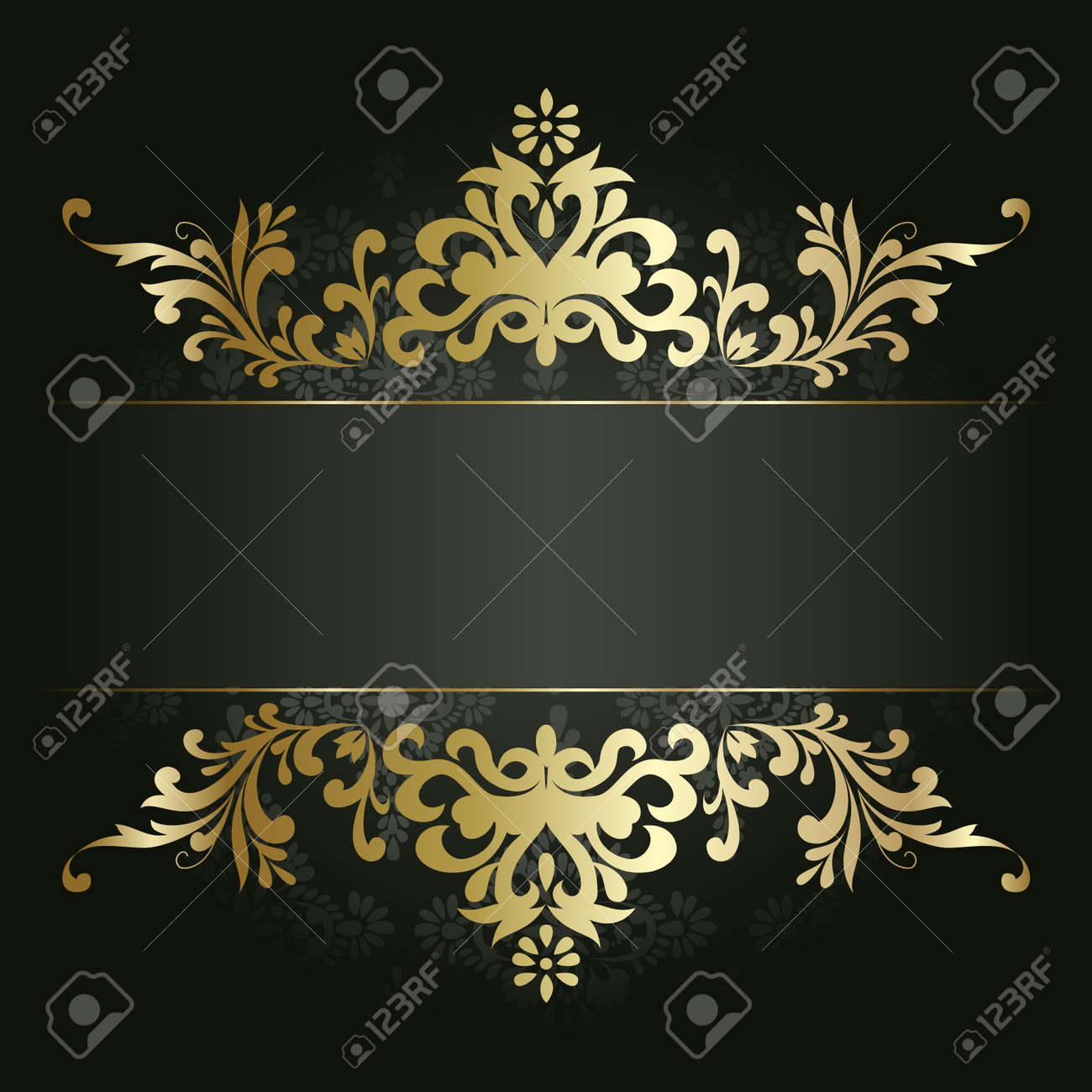 Fashion week Flower gold background for girls