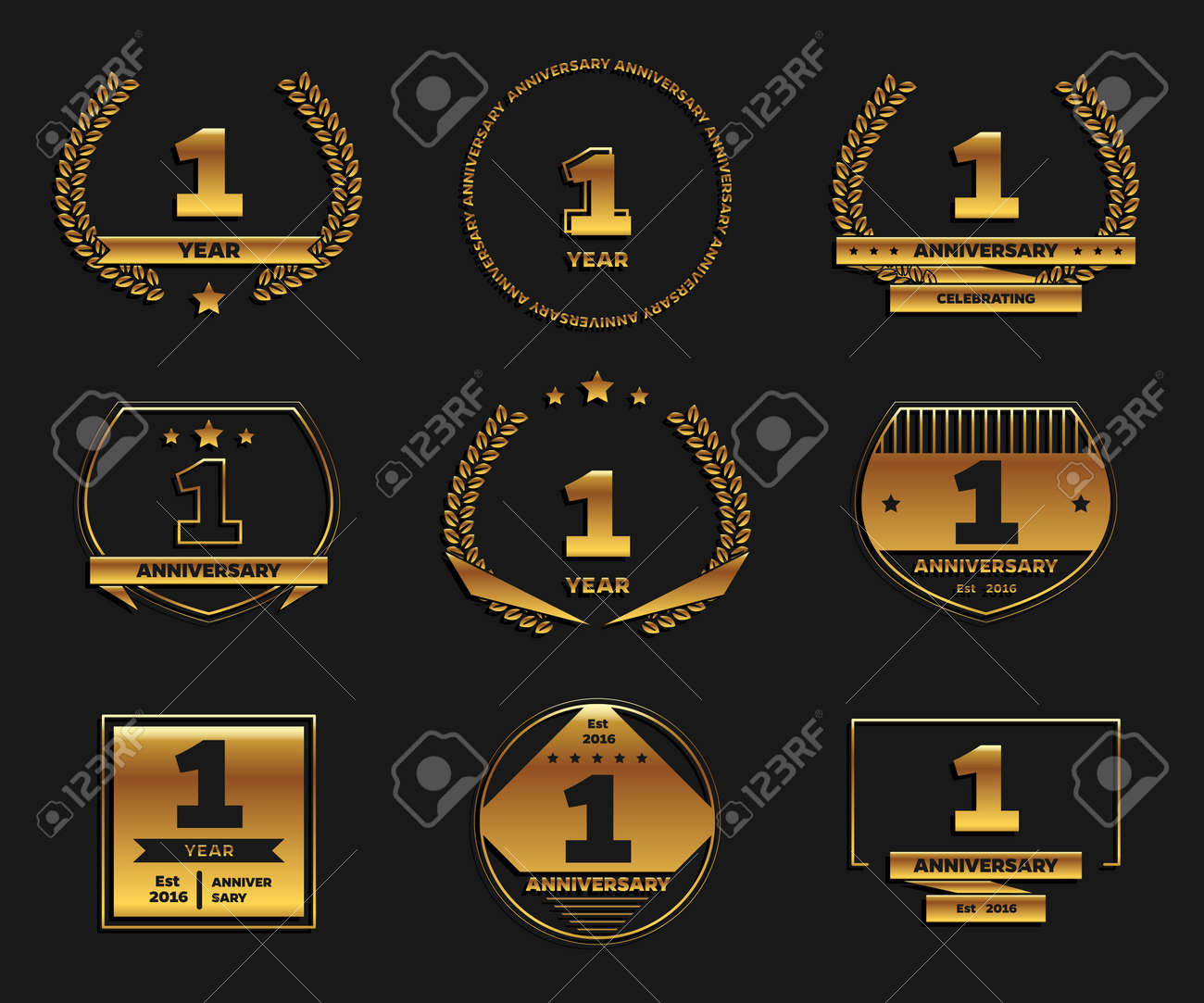 one year anniversary celebration logotype 1st anniversary logo royalty free cliparts vectors and stock illustration image 97699758 one year anniversary celebration logotype 1st anniversary logo