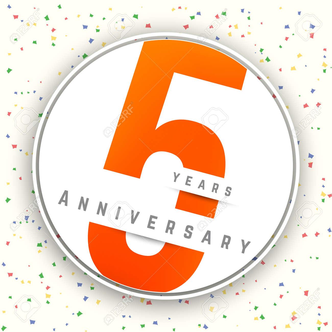 five years anniversary banner 5th anniversary logo vector
