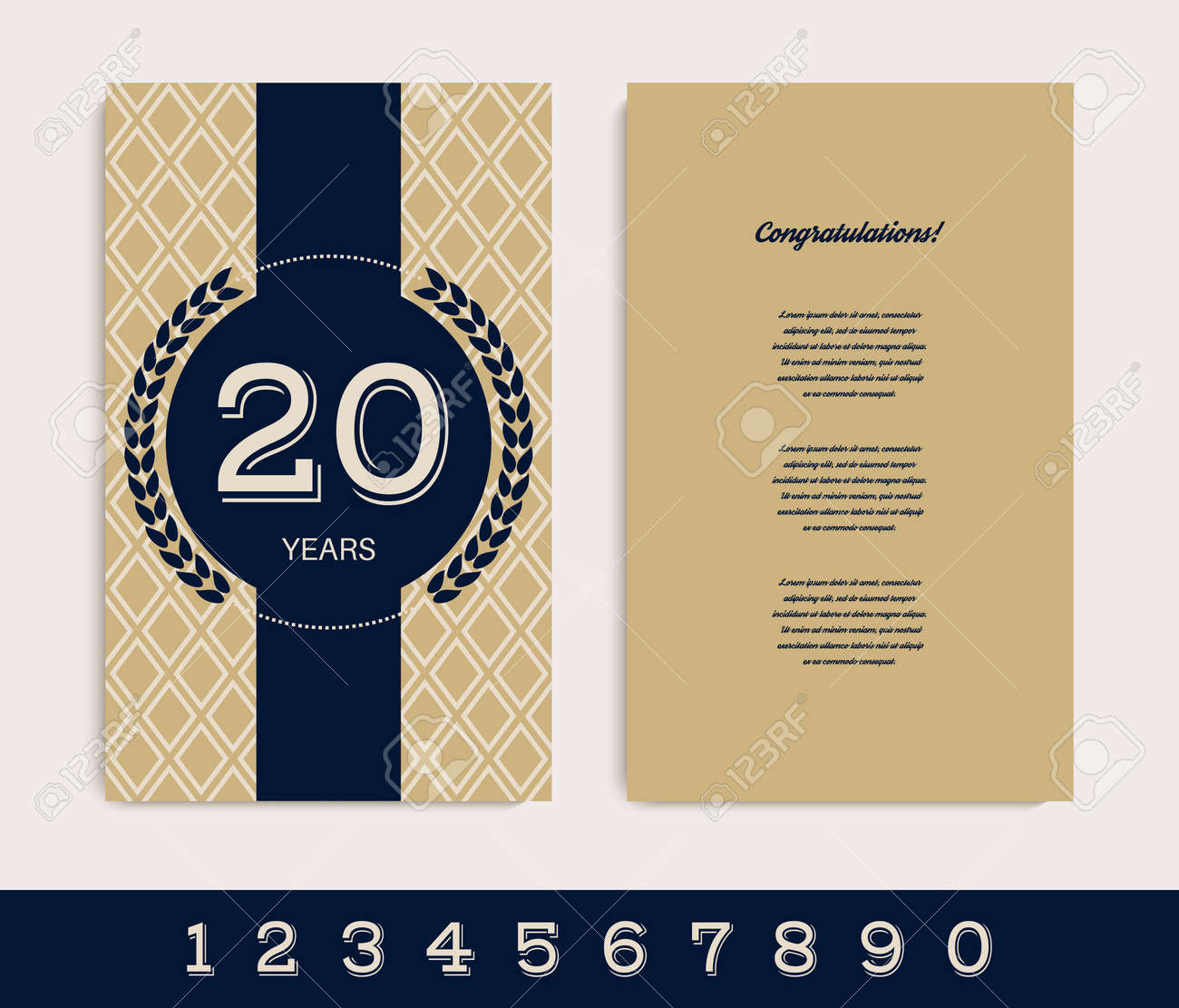 Anniversary invitation card template vector illustration royalty anniversary invitation card template vector illustration stock vector 97937217 stopboris Images