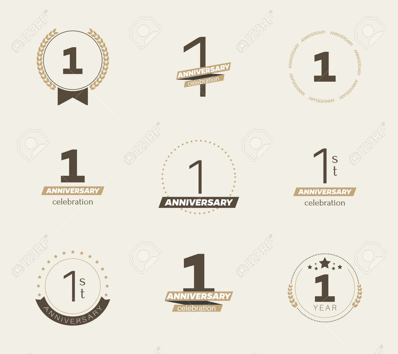 1 year anniversary logo set 1st anniversary icons vector illustration royalty free cliparts vectors and stock illustration image 101839787 1 year anniversary logo set 1st anniversary icons vector illustration