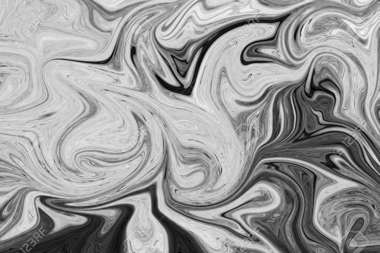Abstract gray black and white marble ink pattern background liquify abstract pattern with black