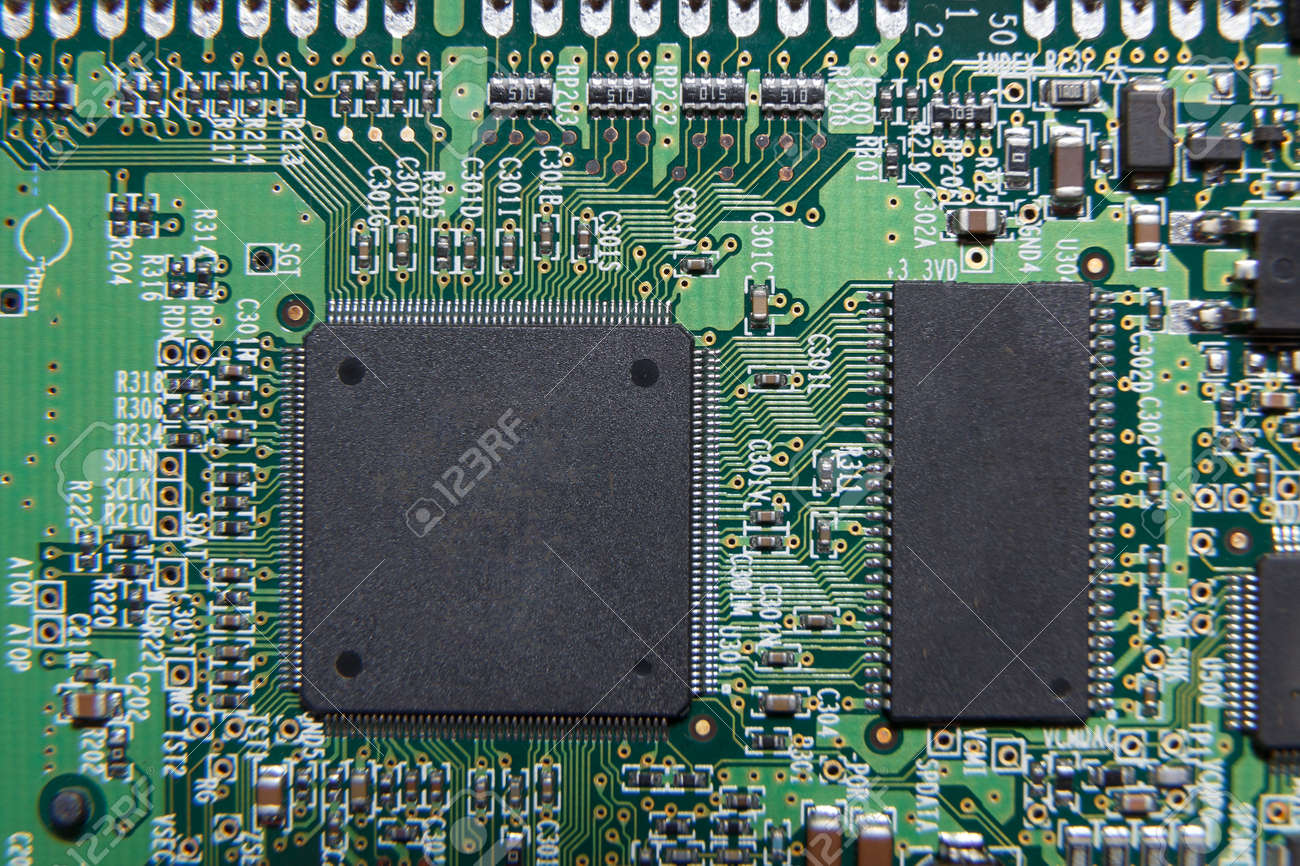 Pleasant A Green Circuit Board With Complicated Wiring Stock Photo Picture Wiring 101 Kniepimsautoservicenl