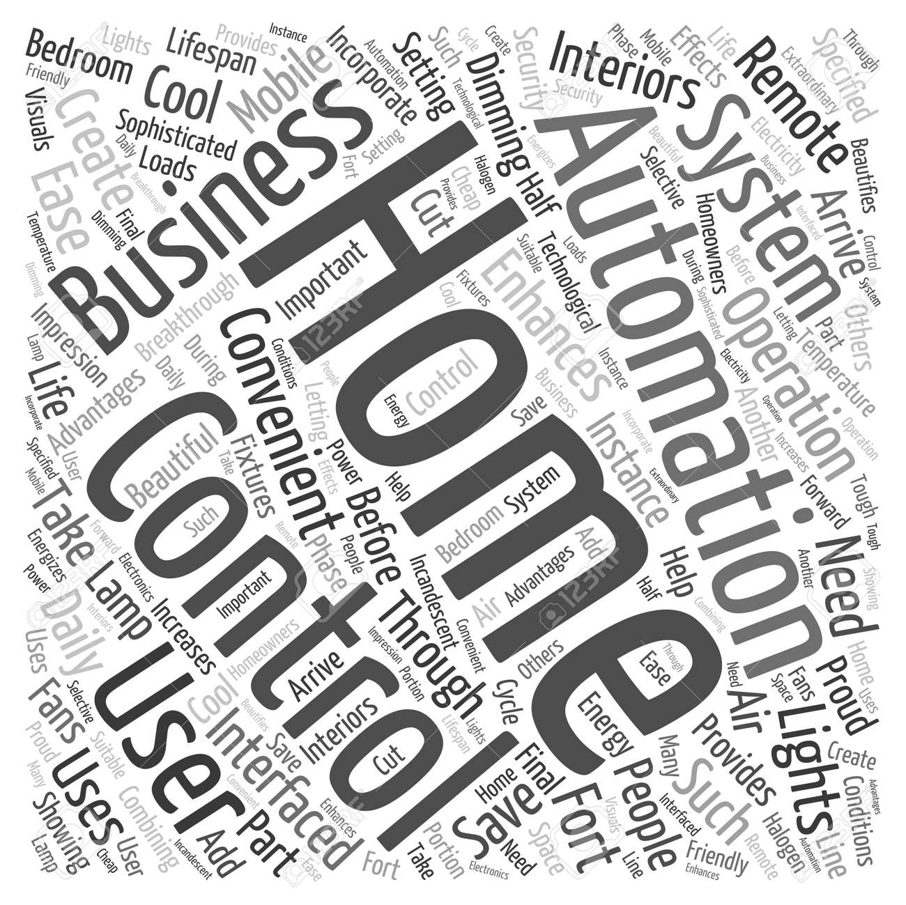 Home Automation Business Word Cloud Concept Royalty Free Cliparts ...