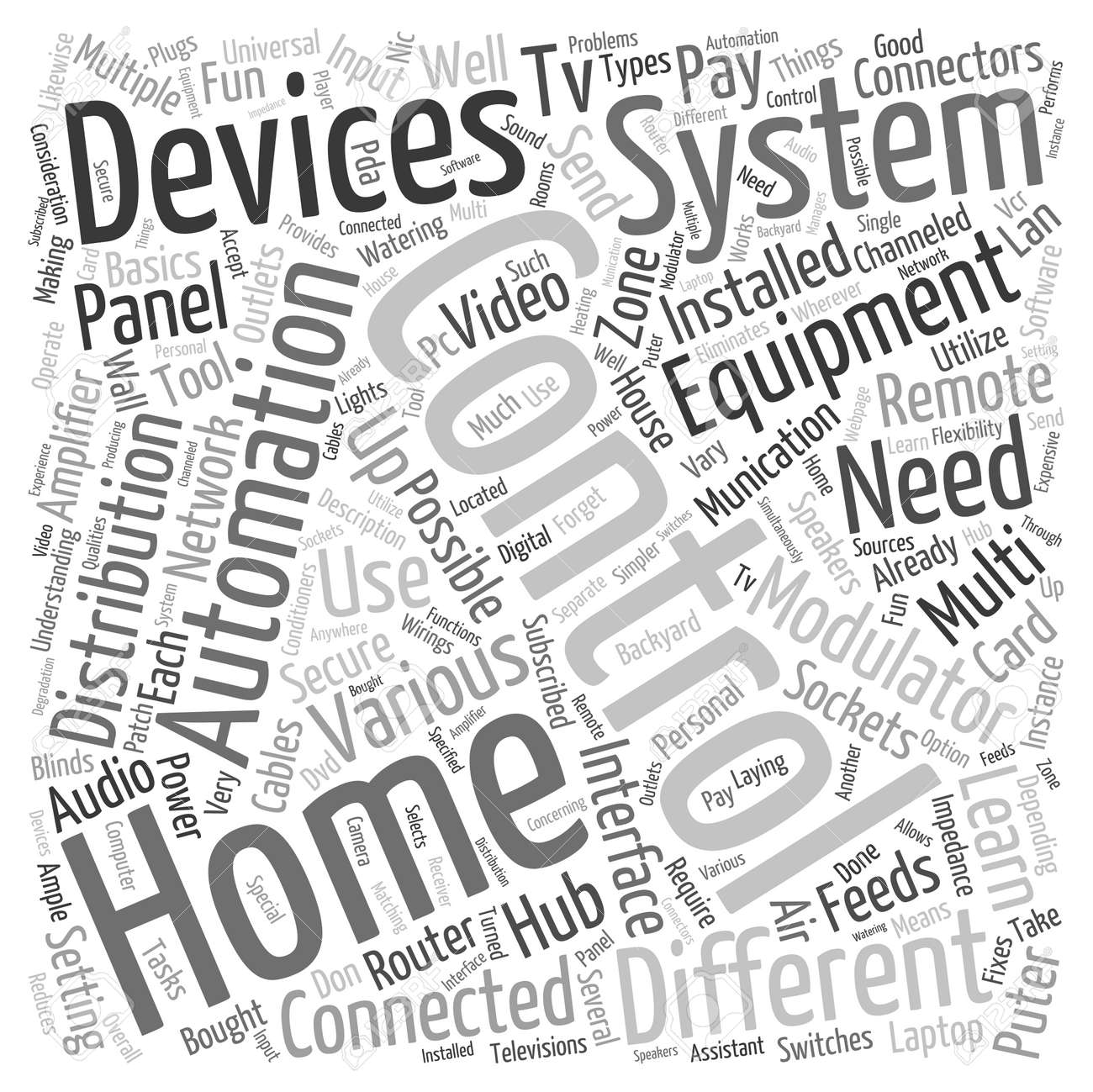 Home Automation Equipment Word Cloud Concept Royalty Free Cliparts ...