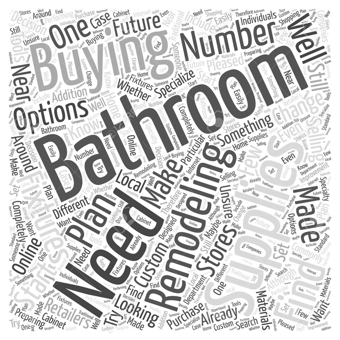 bathroom remodeling supplies your buying options stock vector 64594163