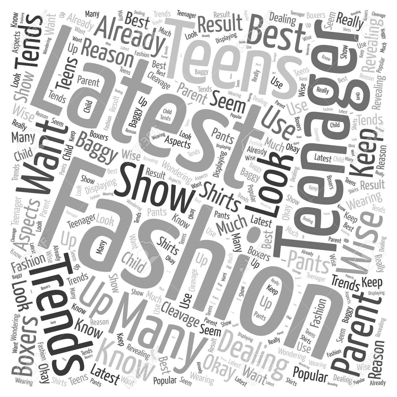 Traiter Avec Votre Adolescent Et La Dernière Mode Trends Concept De ...