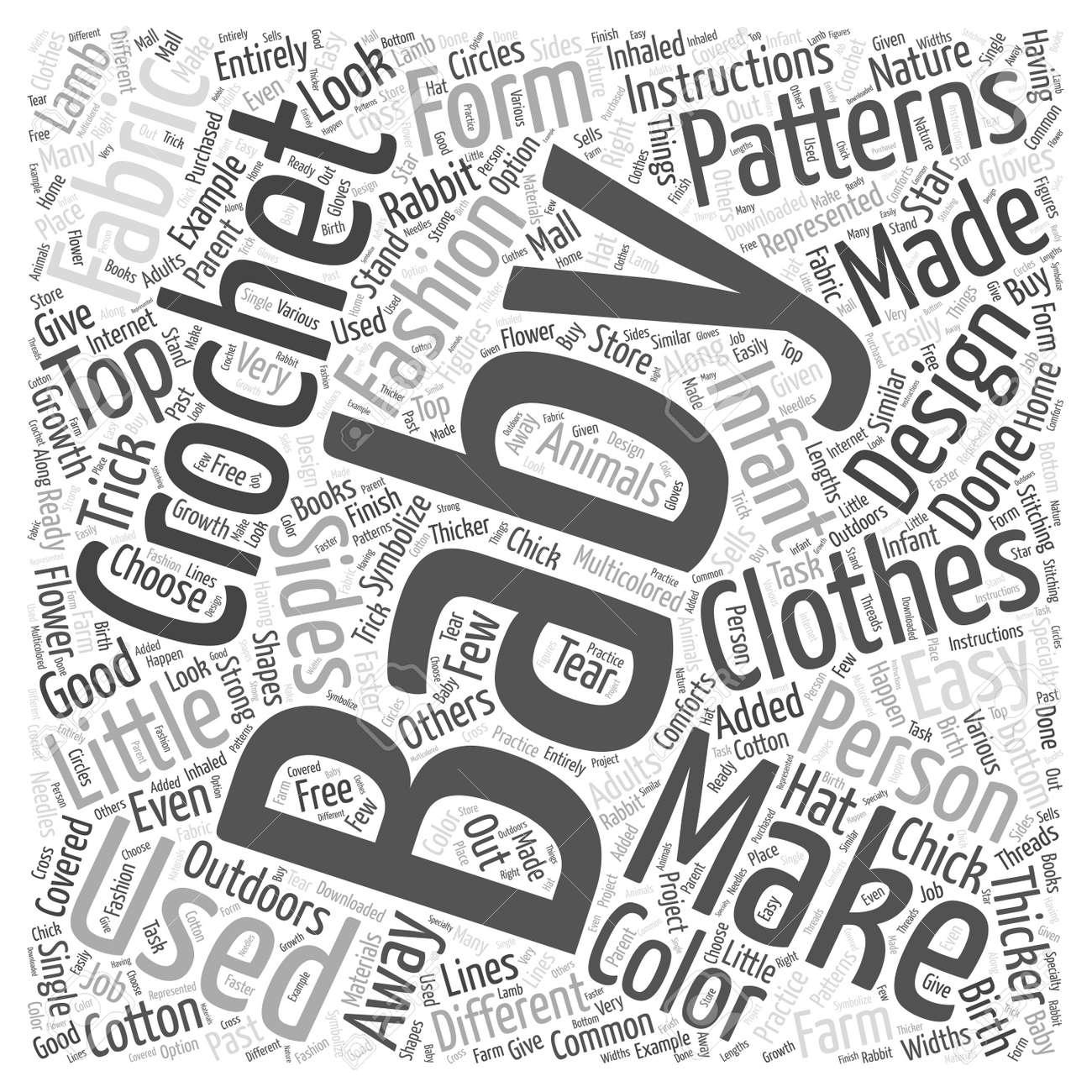 Häkelarbeitbaby-Muster Wort Cloud-Konzept Lizenzfrei Nutzbare ...