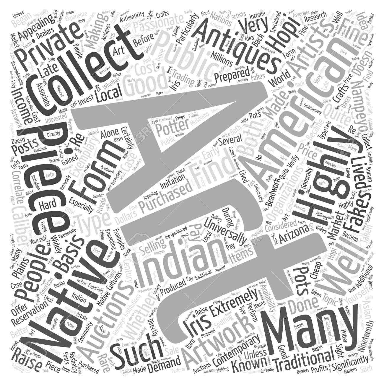 Ureinwohner Kunst Auktionen Kunst Antiquitäten Wort Cloud Konzept