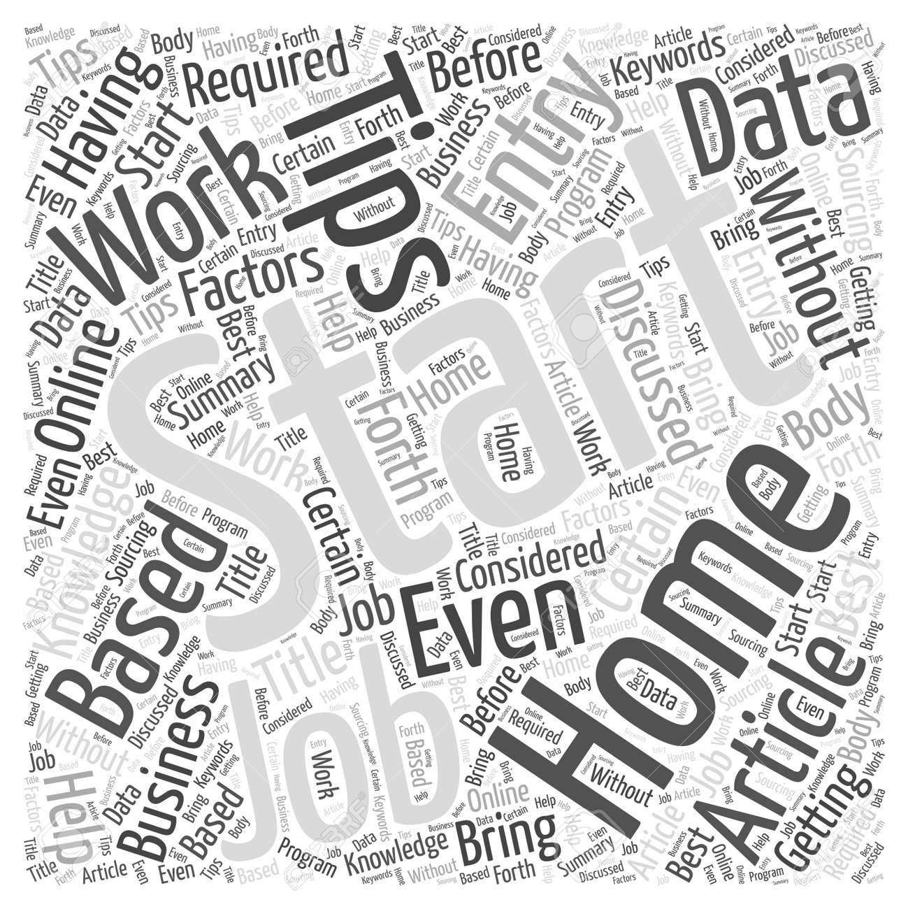 Tips For Getting Started With Online Data Entry Jobs Word Cloud ...