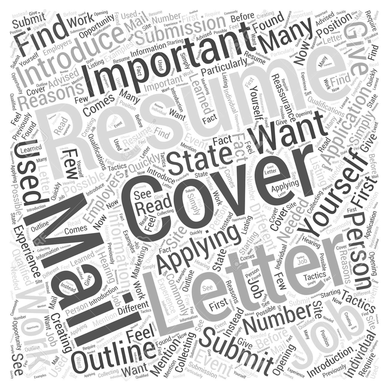 resume submission the importance of cover letters word cloud resume submission the importance of cover letters word cloud concept stock vector 67300389