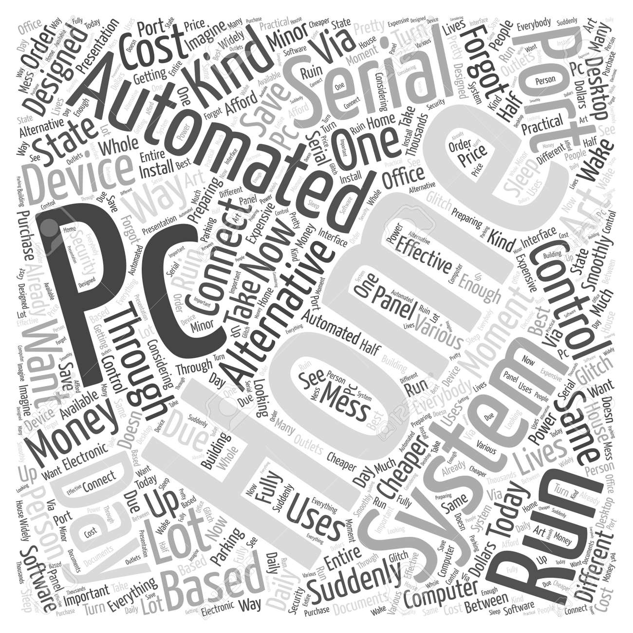 Pc Serial Port Home Automation Word Cloud Concept Royalty Free ...