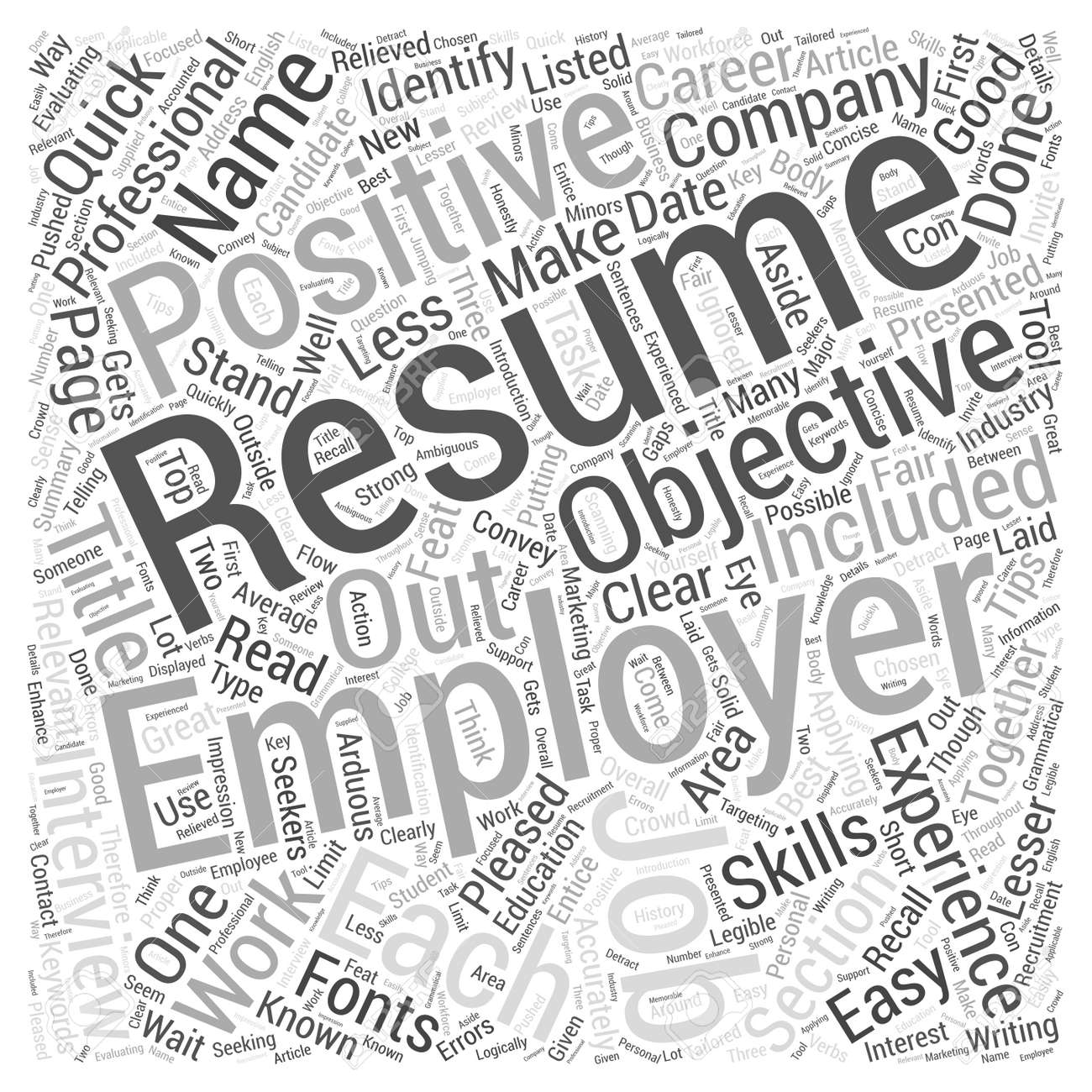 Quick Resume Writing Tips Evaluating Your Resume Word Cloud Concept ...