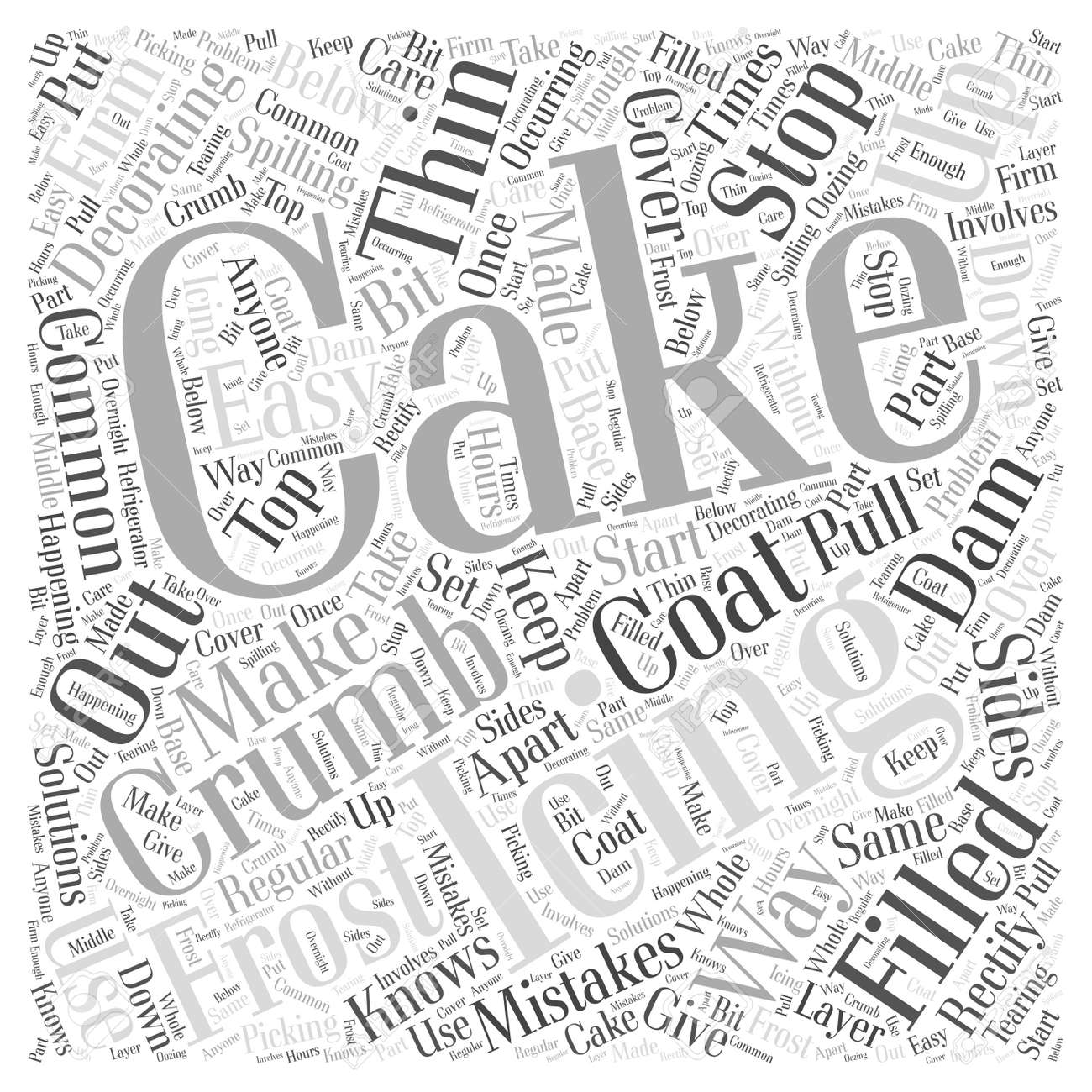 Easy Solutions To Common Cake Decorating Mistakes word cloud