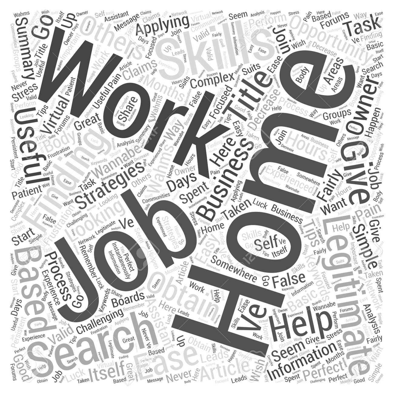 Simple Strategies To Ease Your Work From Home Job Search Word ...