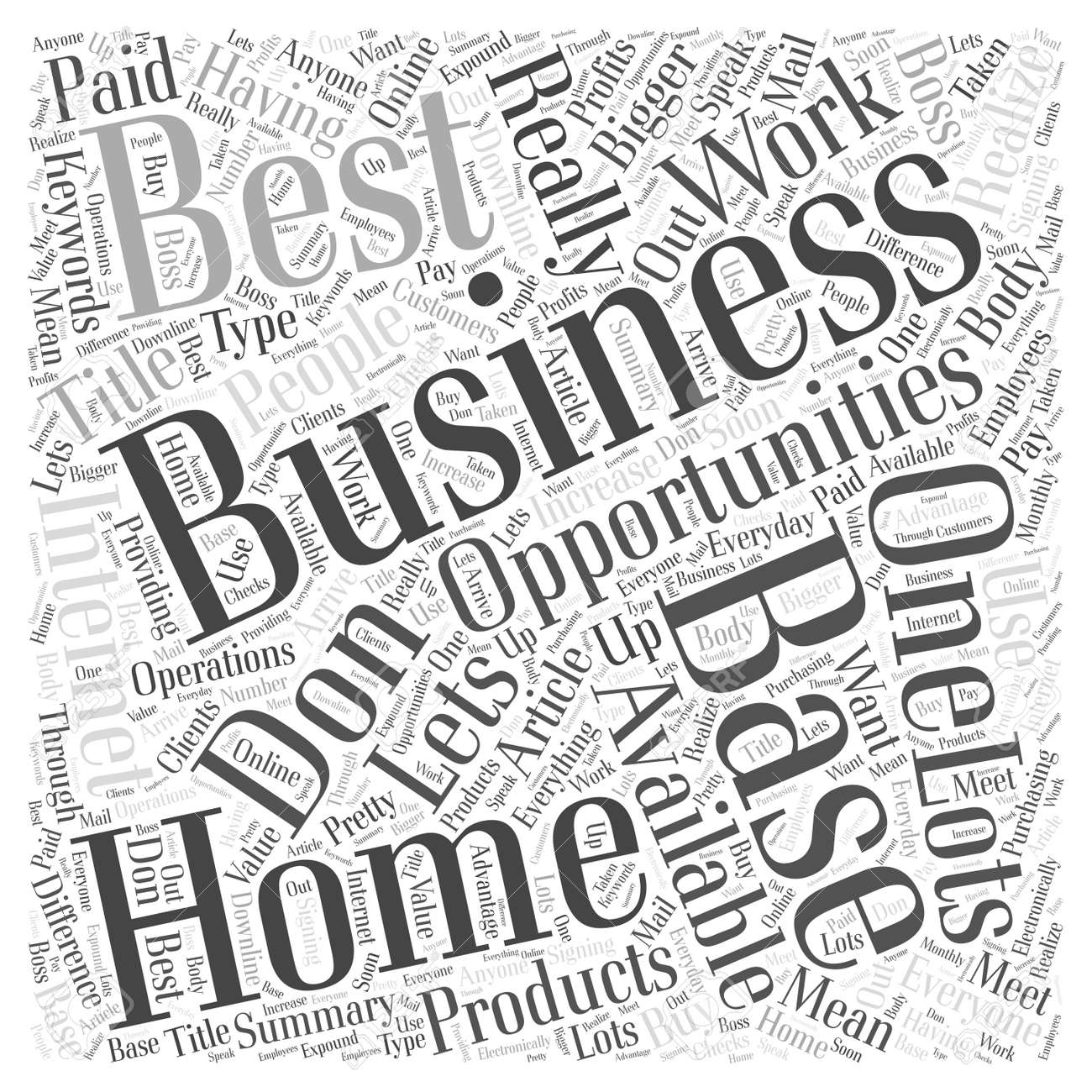 Unique Best Home Based Business Opportunities Sketch - Home ...