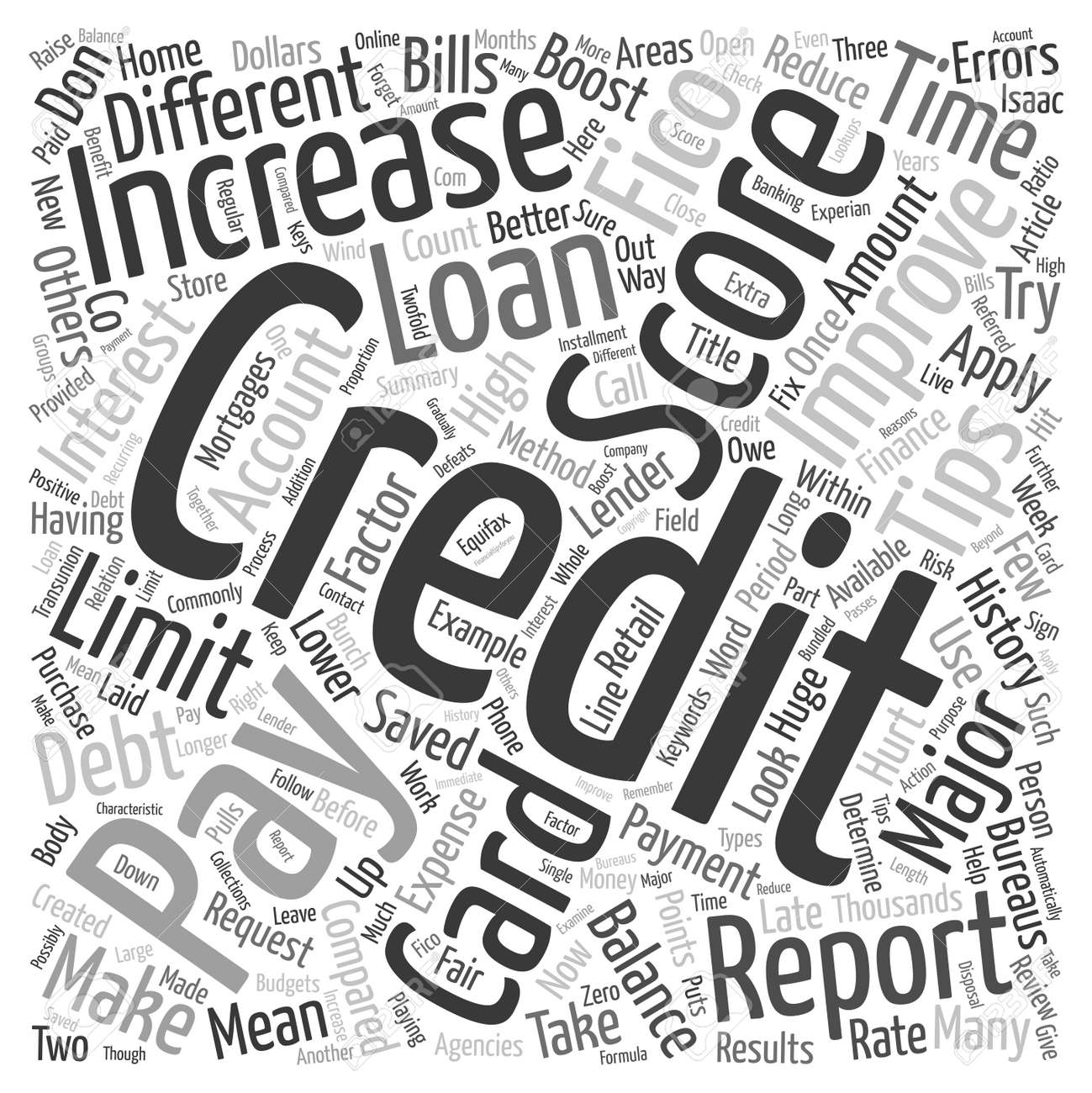 Tips To Increase Your Credit Score Text Background Wordcloud Concept Stock  Vector 67835919