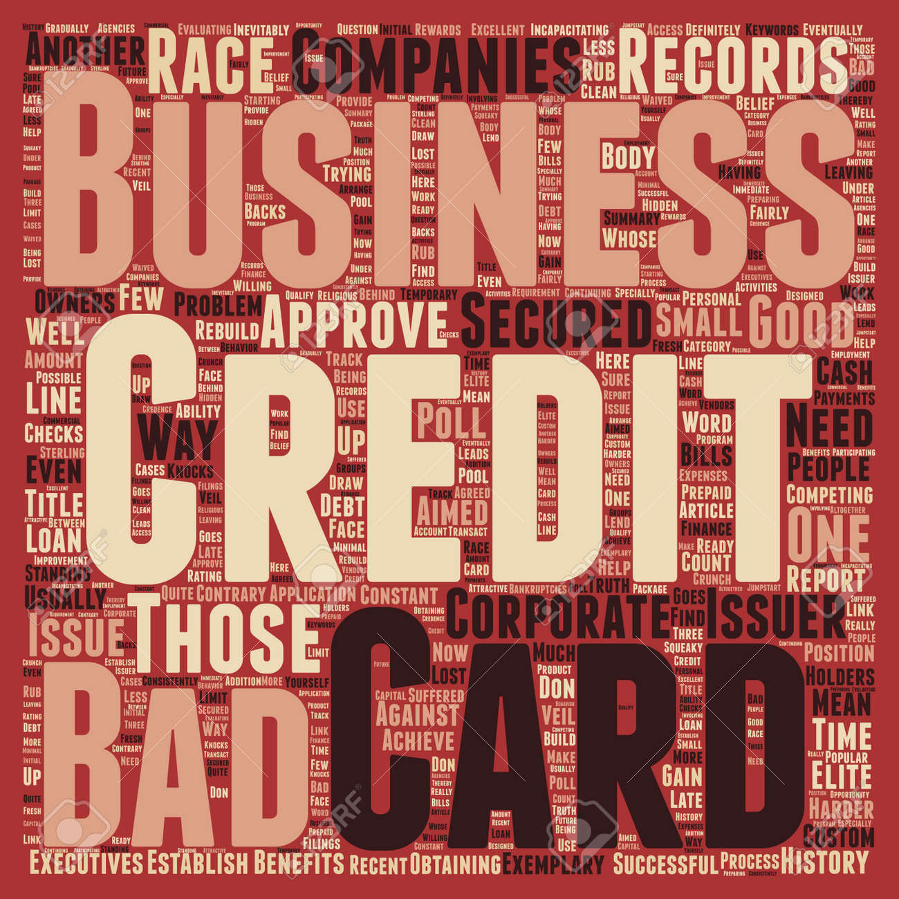 Business credit cards for those with bad credit text background business credit cards for those with bad credit text background wordcloud concept stock vector 68123091 reheart Choice Image