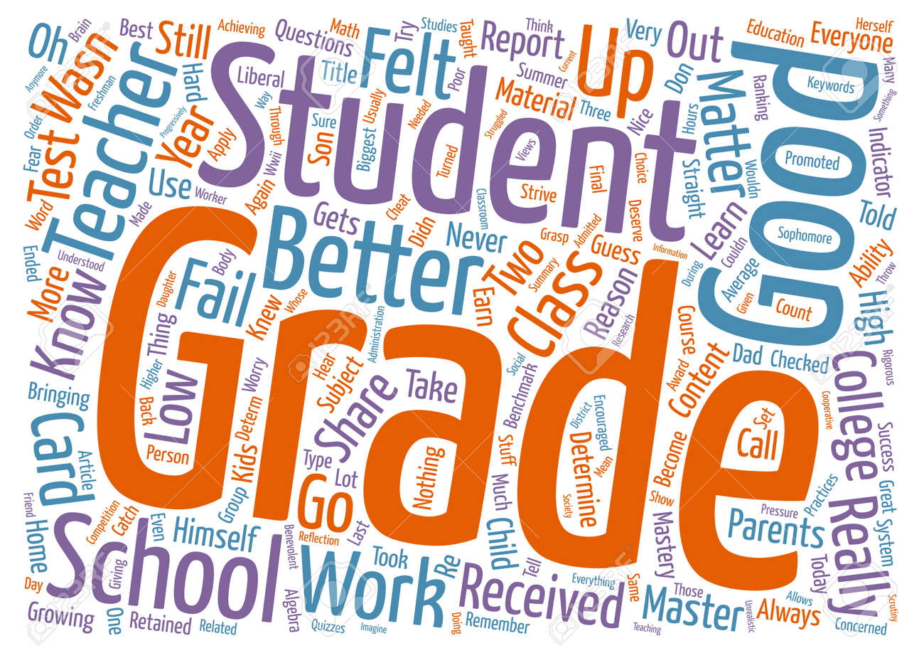good grades are nice but mastery is better text background word cloud concept stock vector