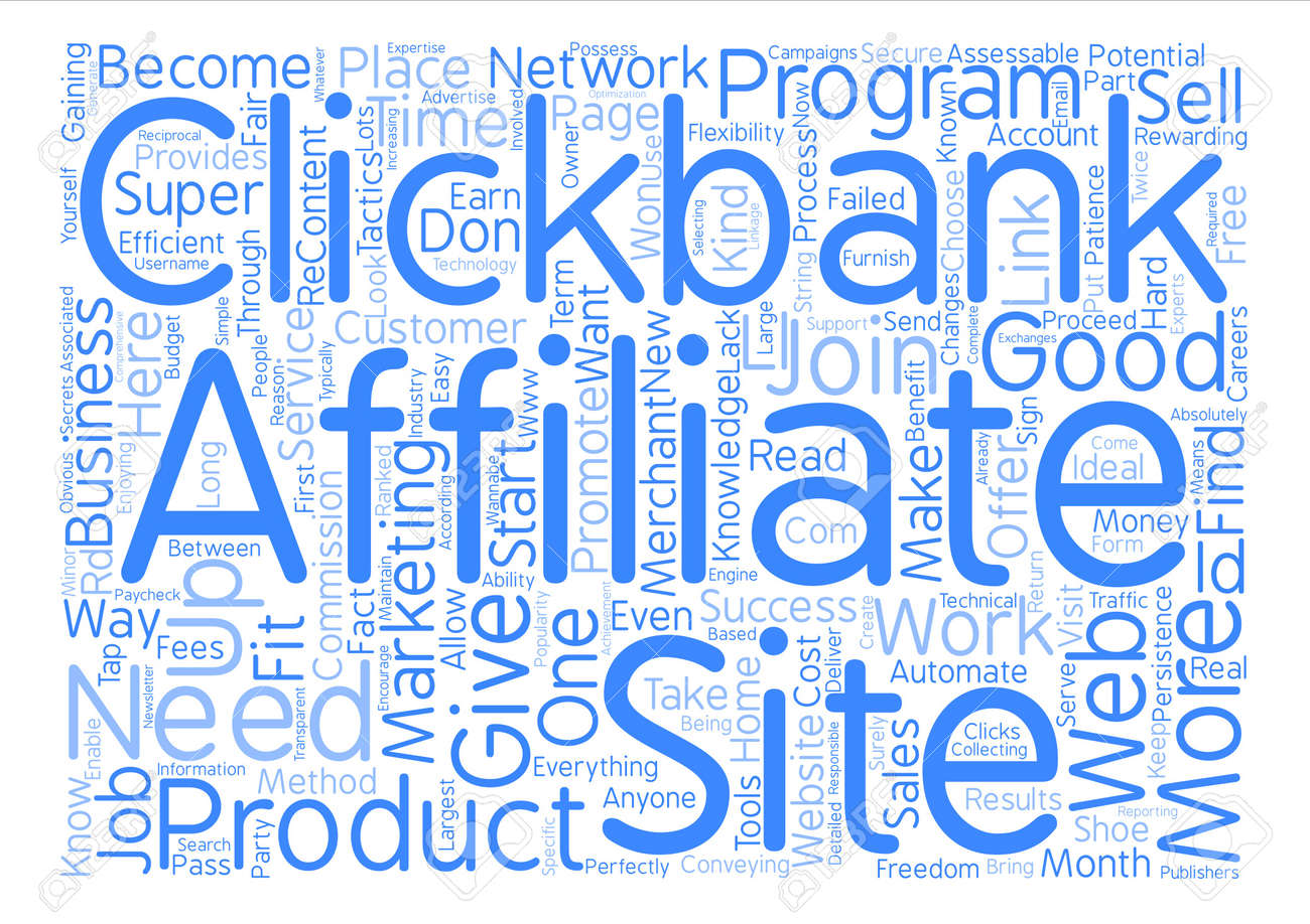 How To Become A Clickbank Super Affiliate text background word cloud concept - 72104643
