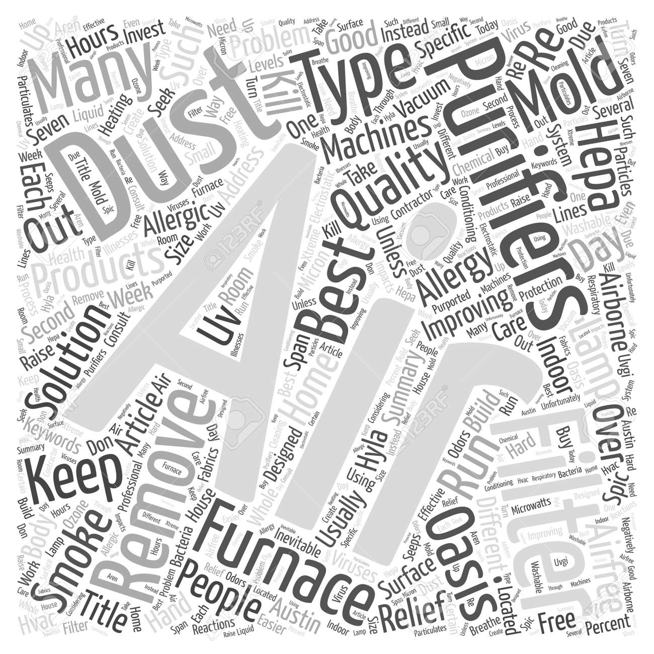 Are Air Purifiers the Solution to Improving Indoor Air Quality Word Cloud Concept - 72377397