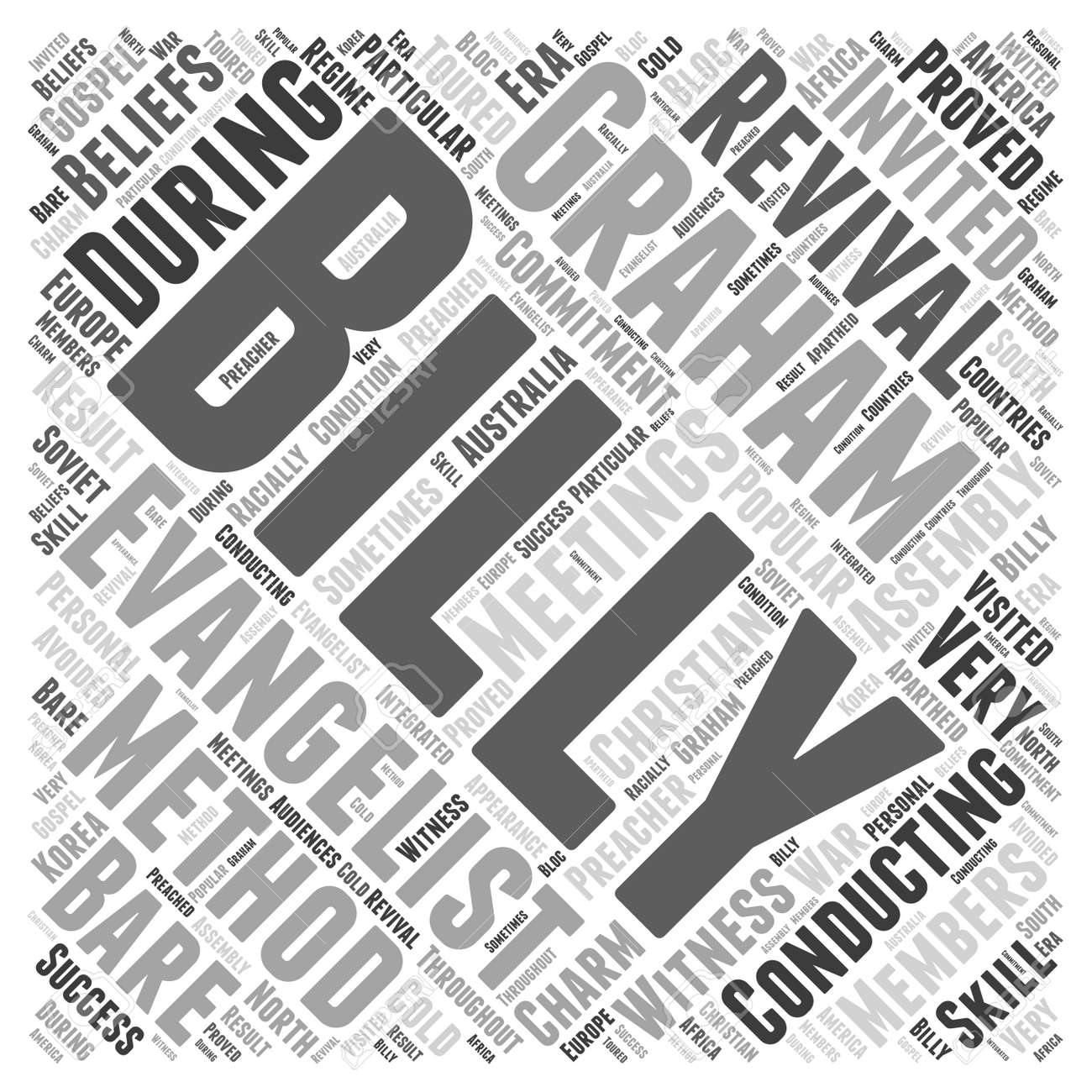 billy graham Word Cloud Concept - 72921117