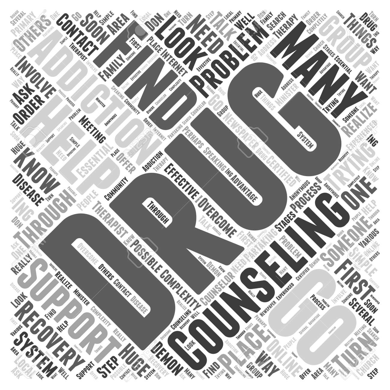Drug Addiction Counseling Word Cloud Concept Royalty Free Cliparts