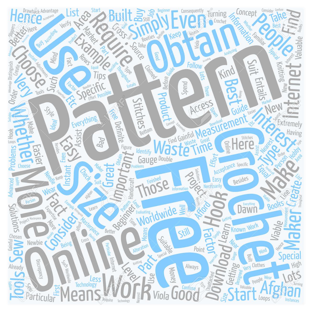 Free Online Häkeln Muster Text Hintergrund Wordcloud Konzept ...